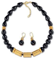 """Jewelry set """"Onyx Judith"""""""