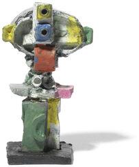 """Skulptur """"Doppelzyklop"""", Bronze (2016)"""