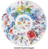 """Kollektion Marc Chagall von Bernardaud - Platzteller / Schale """"La Coupole de I'Opéra Garnier"""", Porzellan"""