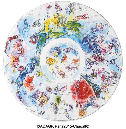 """Marc Chagall: Kollektion Marc Chagall von Bernardaud - Platzteller / Schale """"La Coupole de I'Opéra Garnier"""", Porzellan"""