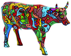 """Billy The Artist: Cow Object """"Moo York Celebration"""", Artificial Casting"""