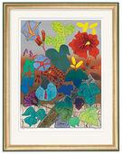"""Bild """"Mein Blumengarten"""" (2001), gerahmt"""