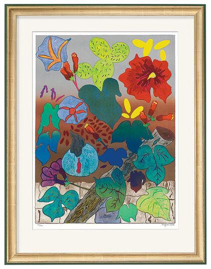 """Tom Krøjer: Bild """"Mein Blumengarten"""" (2001), ungerahmt"""