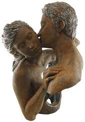 """Skulptur """"Contacto"""", Kunstguss Steinoptik"""