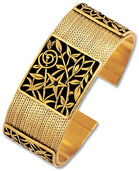 "Wrist band ""Bloom of Art Nouveau"" - after Gustav Klimt"