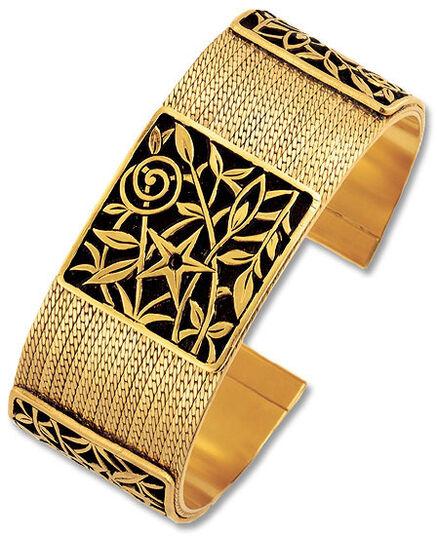"Petra Waszak: Wrist band ""Bloom of Art Nouveau"" - after Gustav Klimt"