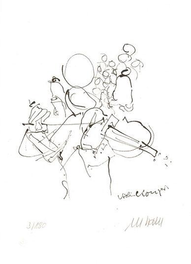 """Armin Mueller-Stahl: Bild """"Violinkonzert"""" (2015) - inkl. Buch, ungerahmt"""