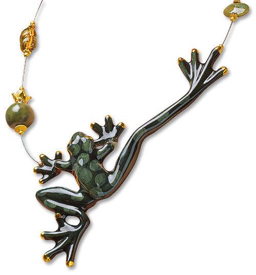 "Anna Mütz: Necklace ""Porcelain frog"""
