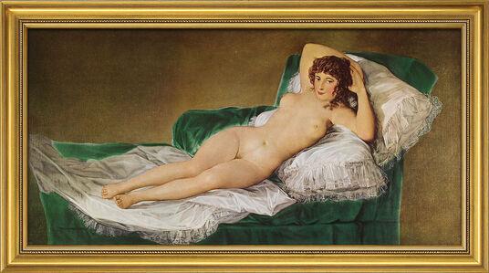 "Francisco de Goya: Bild ""Die nackte Maja"" (1797-1800), gerahmt"