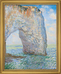 Painting 'The Manneporte near Étretat' (1886), framed