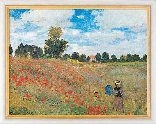 """Claude Monet: Bild """"Les coquelicots à Argenteuil (Das Mohnfeld bei Argenteuil)"""" (1873), gerahmt"""