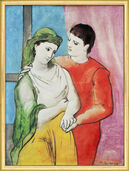 "Painting ""The Lovers""  (1923)"