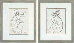"""Set of 2 pictures """" Nude Female I and II."""""""