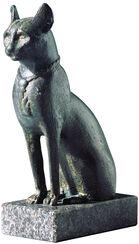 Cat figurine of the goddess Bastet, bronze