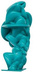 """Skulptur """"Loop türkis"""" (2014)"""