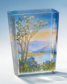 "Glass Vase ""Landscape with Magnolia tree"""
