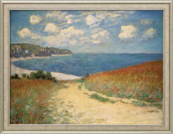 "Painting ""Path through Wheat Fields to Pourville"" (1882), Framed"