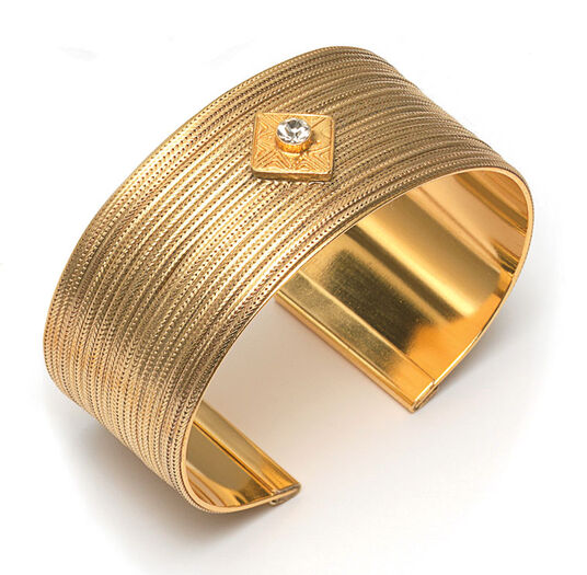 "Petra Waszak: Bangle ""Golden Flower"""