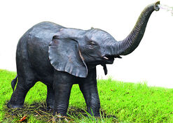 """Gartenskulptur/Wasserspeier """"Elefant"""", Bronze"""
