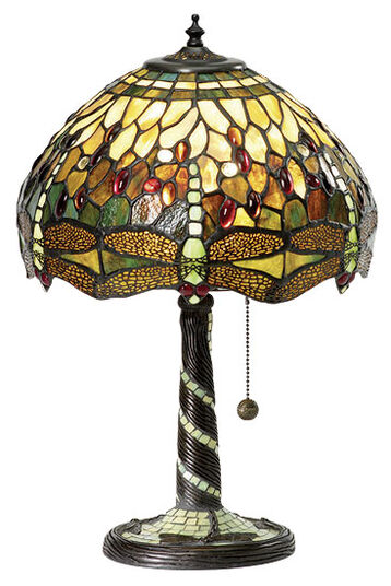 Louis C. Tiffany: Table lamp 'Green Dragonfly'
