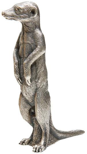 "Ottmar Hörl: Skulptur ""Erdmännchen"" (2009), Version versilbert"
