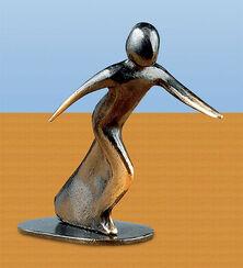 Sculpture 'Ready to Start', bronze