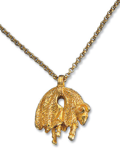 "Pendant ""Golden Fleece"" with necklace"