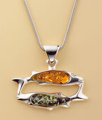 "Amber Necklace ""Pisces"""
