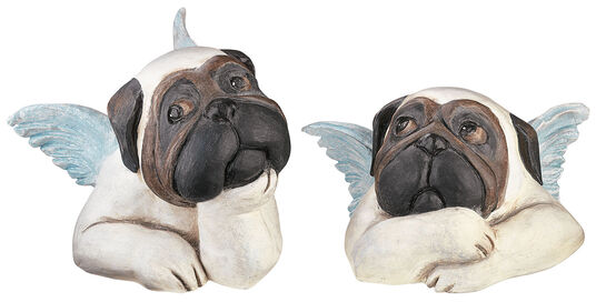 "Loriot: Sculpture set ""Sistine Pugs"", version in polyresin"