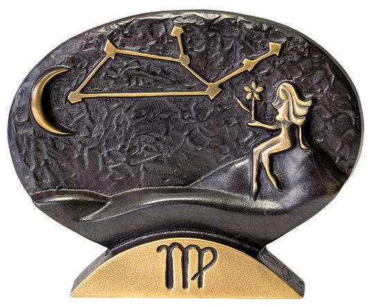 """Bernardo Esposto: Sternzeichen-Skulptur """"Jungfrau"""" (24.8.-23.9.), Bronze"""