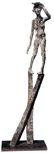 """Roland Zigan: Skulptur """"Aussichten"""" (2004), Bronze"""