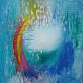 """Bild """"Happiness in Rain"""" (1992) (Original / Unikat), ungerahmt"""