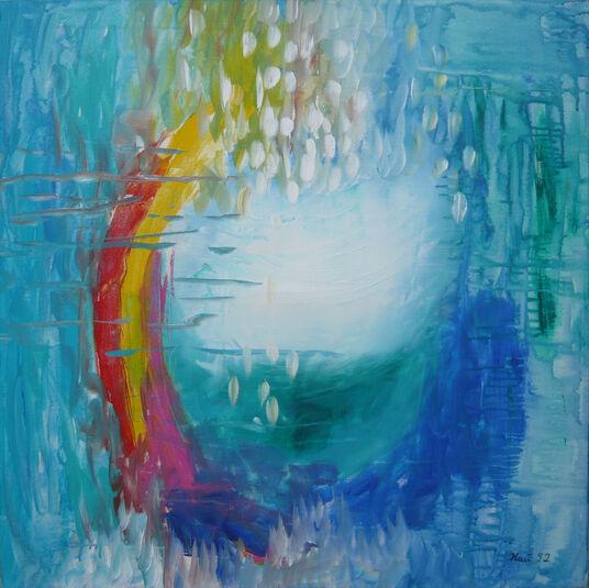 "Irene Kau: Bild ""Happiness in Rain"" (1992) (Original / Unikat), ungerahmt"
