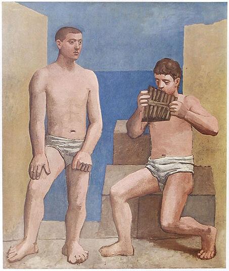 """Pablo Picasso: Bild """"Die Panflöte"""", 1923, ungerahmt"""