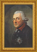 "Painting ""Frederik the Great, King of Prussia"" (1781) in a frame"