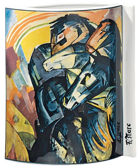 """Franz Marc: Porzellanvase """"Turm der blauen Pferde"""" (1913)"""