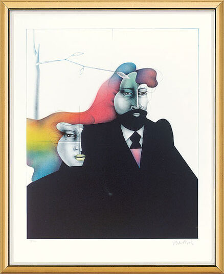 "Paul Wunderlich: Picture  ""After Manet"" - from graphic sequence ""Bellevue"""