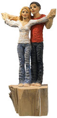 """Sculpture """"Lovers"""", polymer cast, hand-painted"""