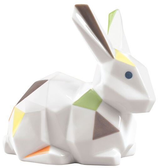 """Lladró: Porzellanfigur """"Kaninchen"""", farbige Version"""