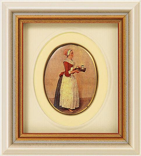 Jean-Étienne Liotard: Miniature porcelain painting 'Chocolate Girl', 1743-45