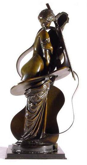 "Arman: Skulptur ""Cellopige"" (1992), Bronze"