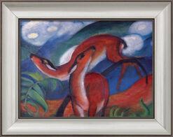 "Bild ""Rote Rehe II"" (1912), gerahmt"