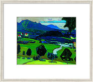 "Bild ""Murnau - Blick über den Staffelsee"" (1902), gerahmt"