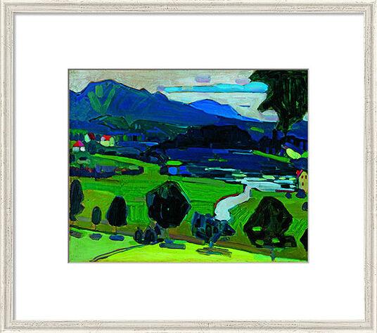 "Wassily Kandinsky: Bild ""Murnau - Blick über den Staffelsee"" (1902), gerahmt"