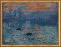 Painting 'Impression, Sunrise' (1873), framed