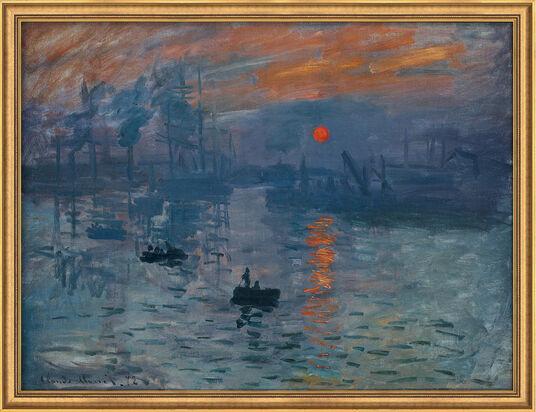 "Claude Monet: Bild ""Impression, Sonnenaufgang"" (1873), gerahmt"