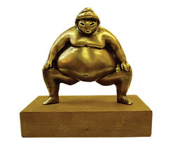 "Sculpture ""Sumo"", bronze"