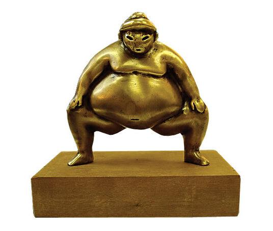 """Gerhard Hofmann: Sculpture """"Sumo"""", bronze"""