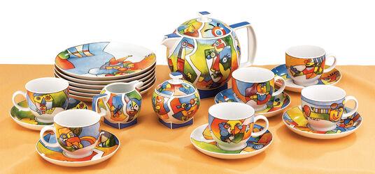 "Otmar Alt: Porzellan-Kaffeeservice ""Akrobat Schön"", 21-teilig"