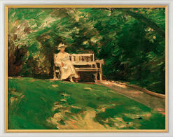 "Picture ""The Garden Bank"" (1916) in gallery framing"
